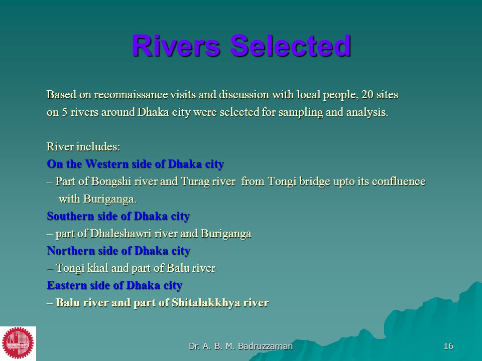 Rivers Selected