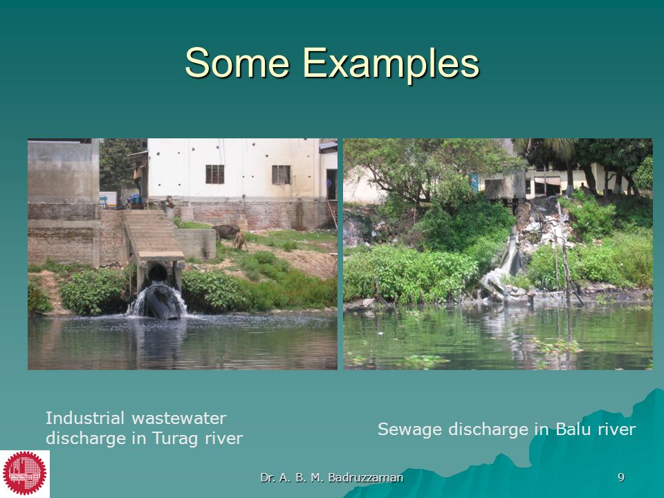 Some Examples Industrial wastewater discharge in Turag river