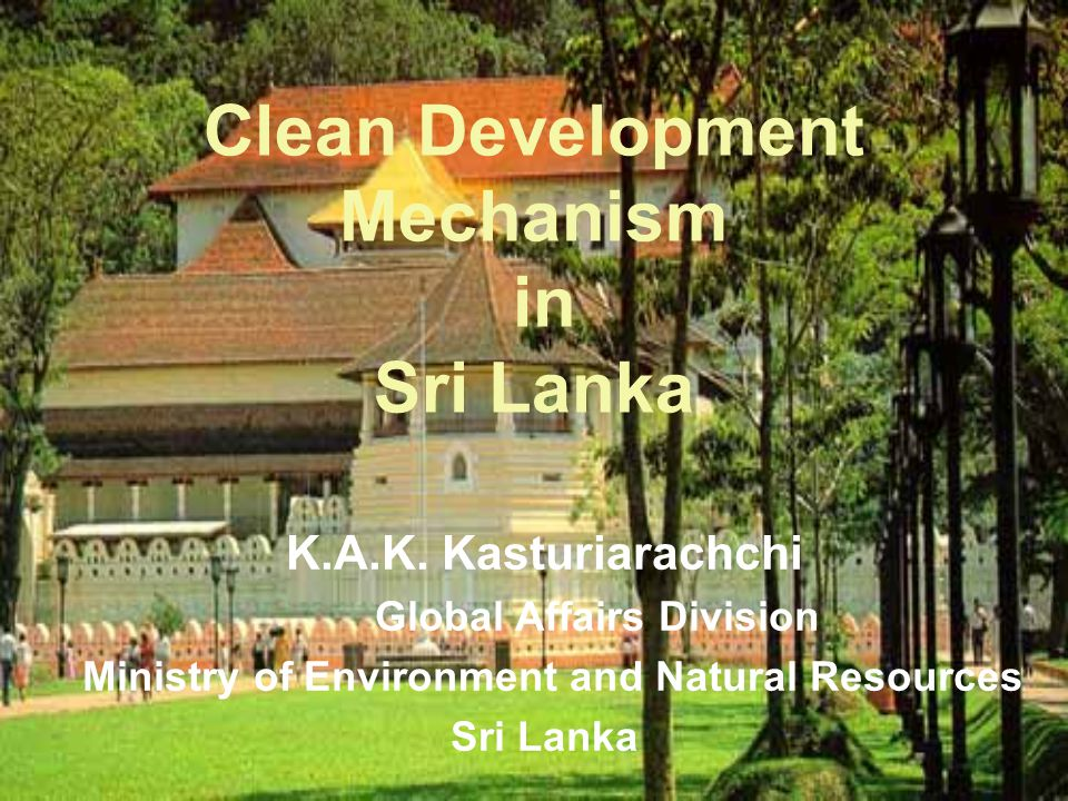 Clean Development Mechanism Global Affairs Division