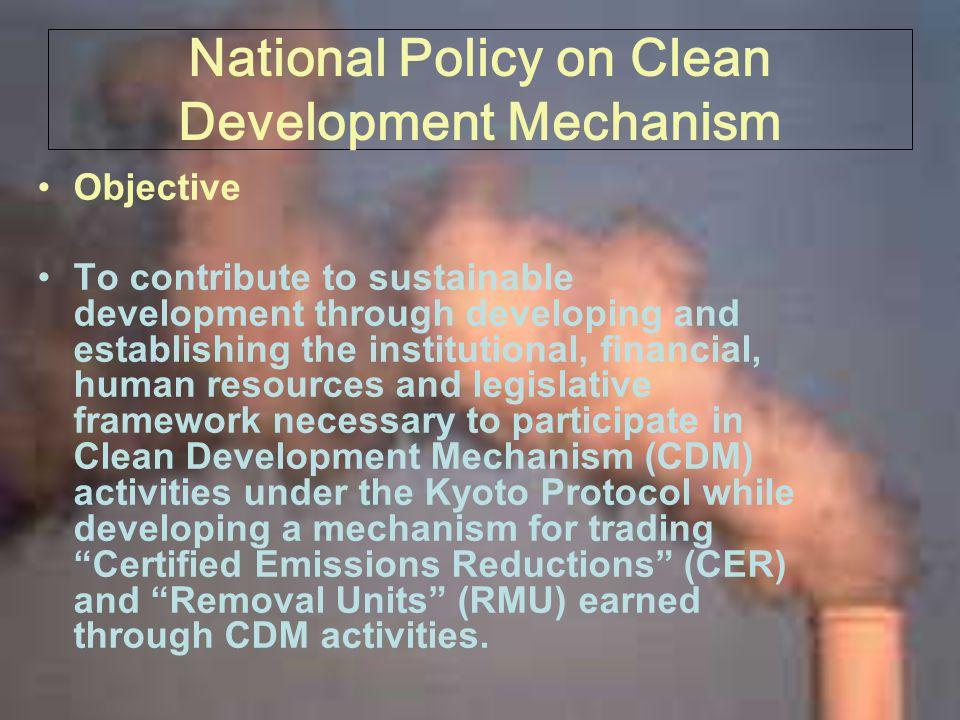 National Policy on Clean Development Mechanism