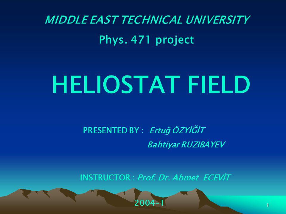 MIDDLE EAST TECHNICAL UNIVERSITY INSTRUCTOR : Prof. Dr. Ahmet ECEVİT