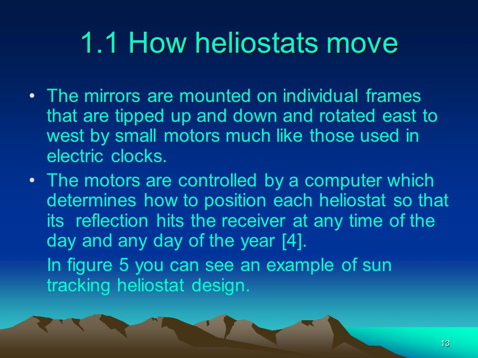 1.1 How heliostats move