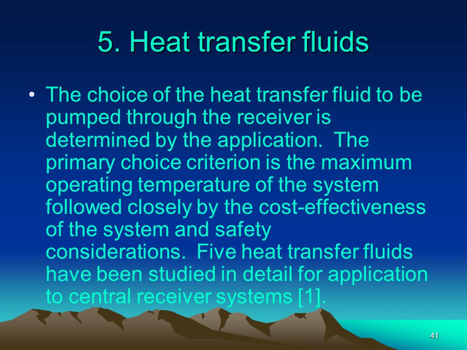5. Heat transfer fluids
