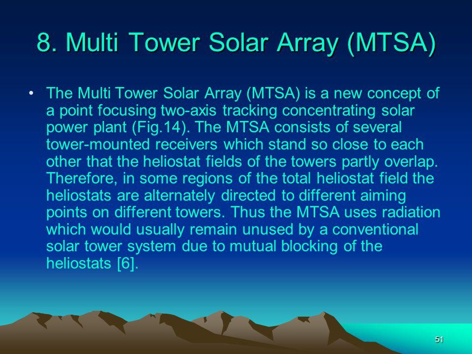 8. Multi Tower Solar Array (MTSA)