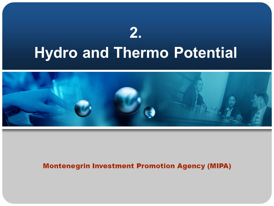 2. Hydro and Thermo Potential