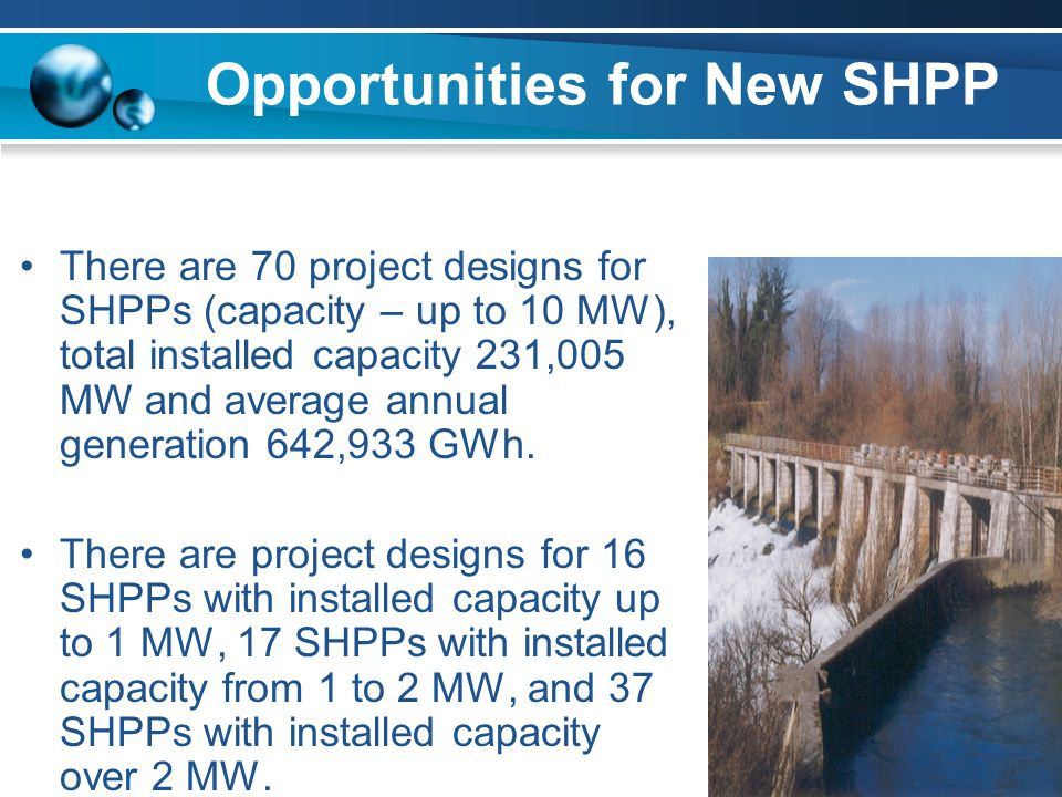 Opportunities for New SHPP