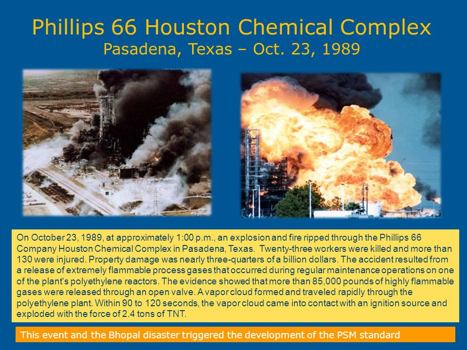 Phillips 66 Houston Chemical Complex Pasadena, Texas – Oct. 23, 1989