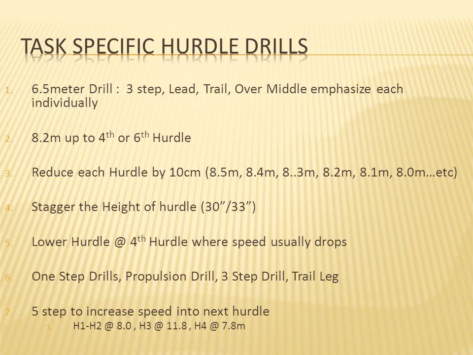 Task Specific Hurdle Drills