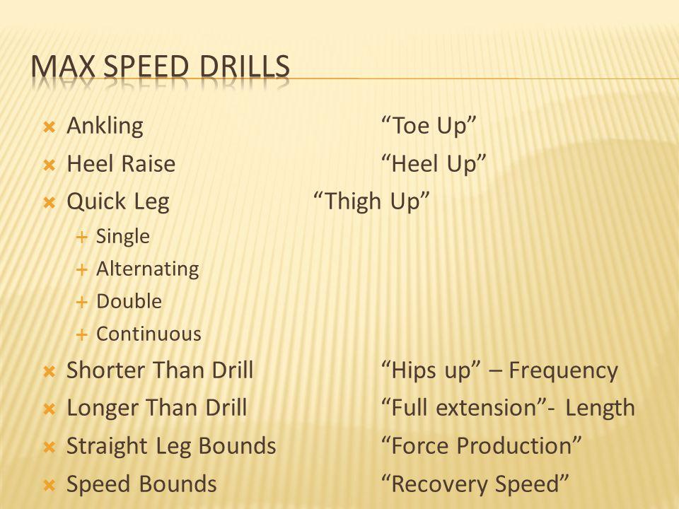 Max Speed Drills Ankling Toe Up Heel Raise Heel Up