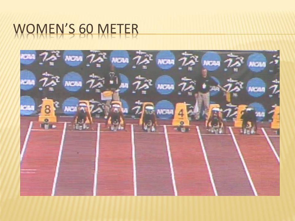 Women's 60 meter 2009 NCAA prelims