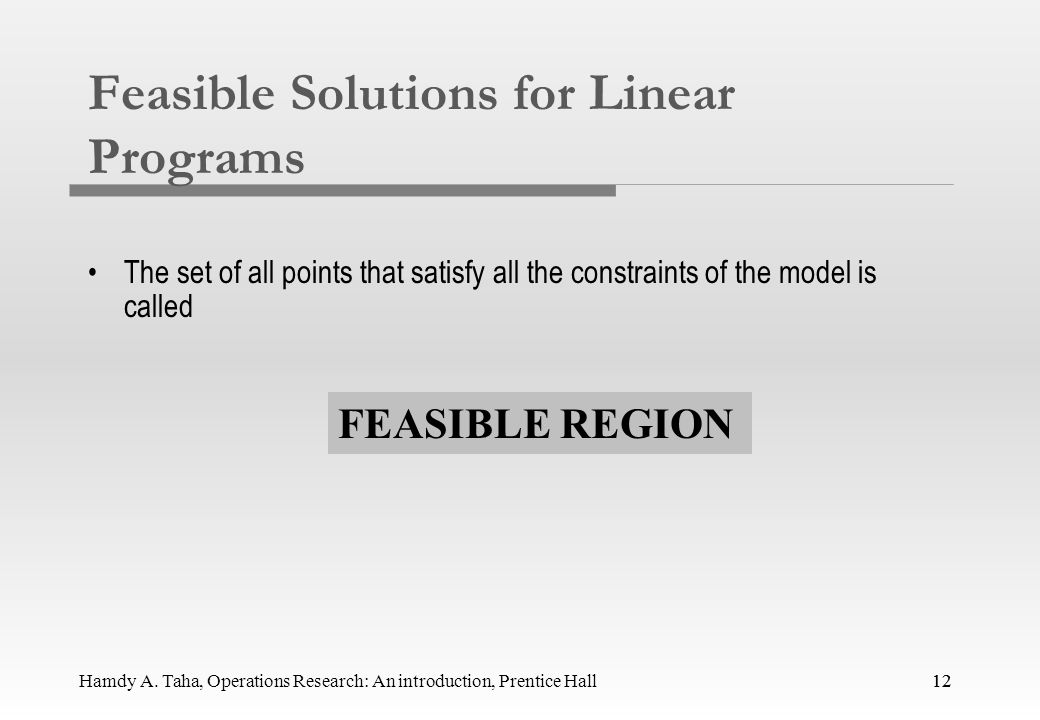 Feasible Solutions for Linear Programs