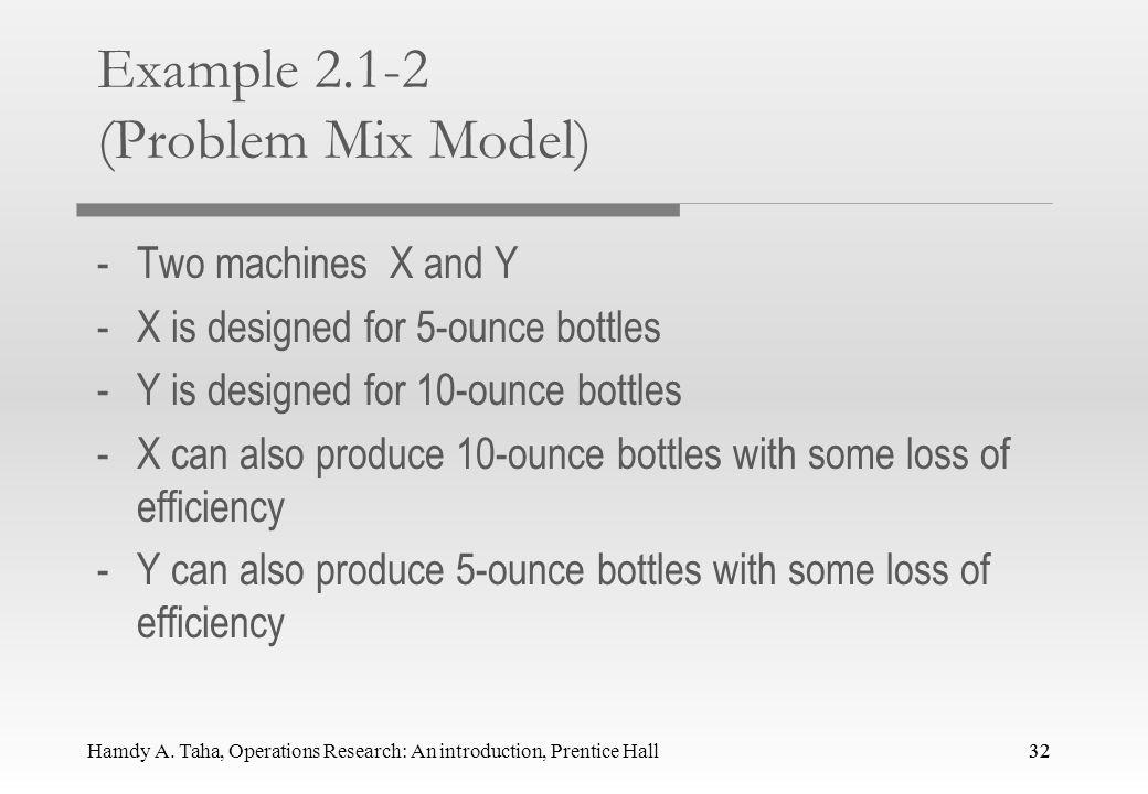 Example 2.1-2 (Problem Mix Model)