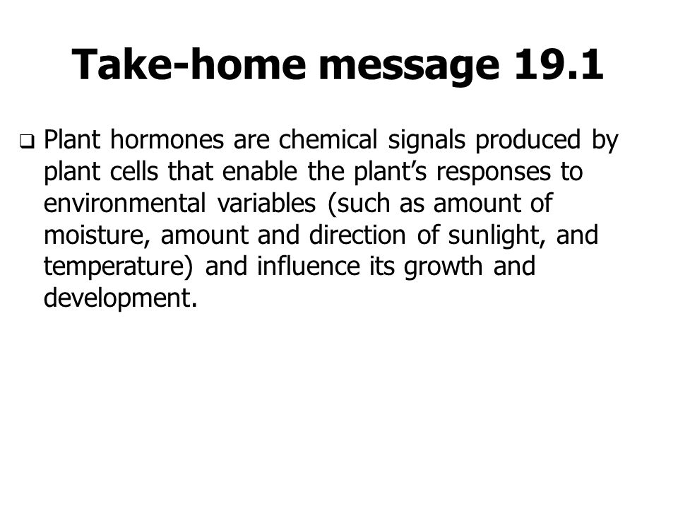 Take-home message 19.1
