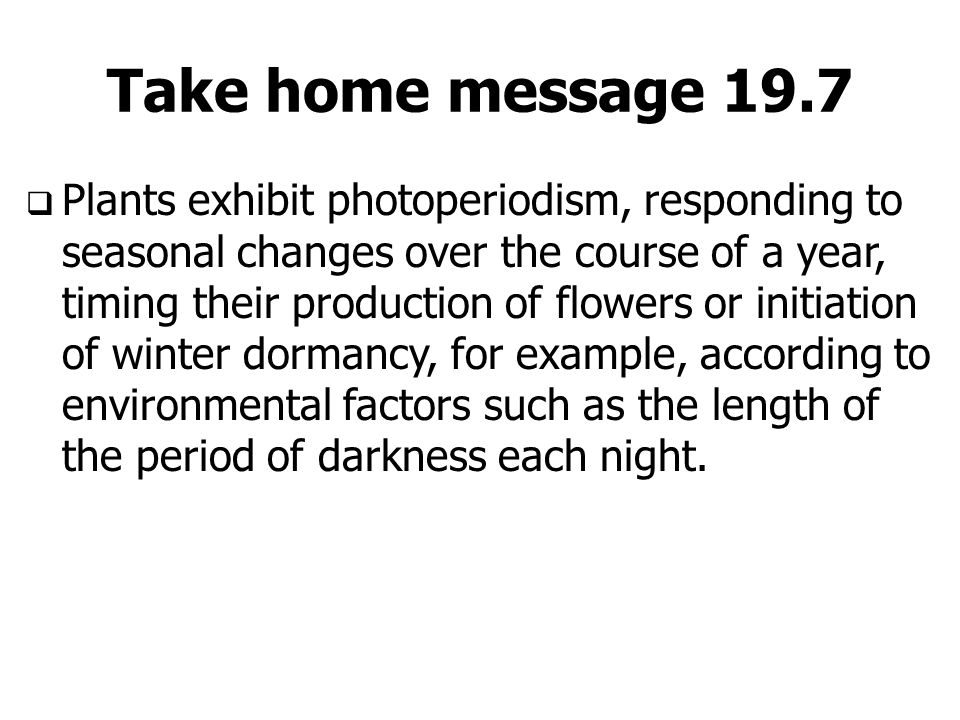 Take home message 19.7