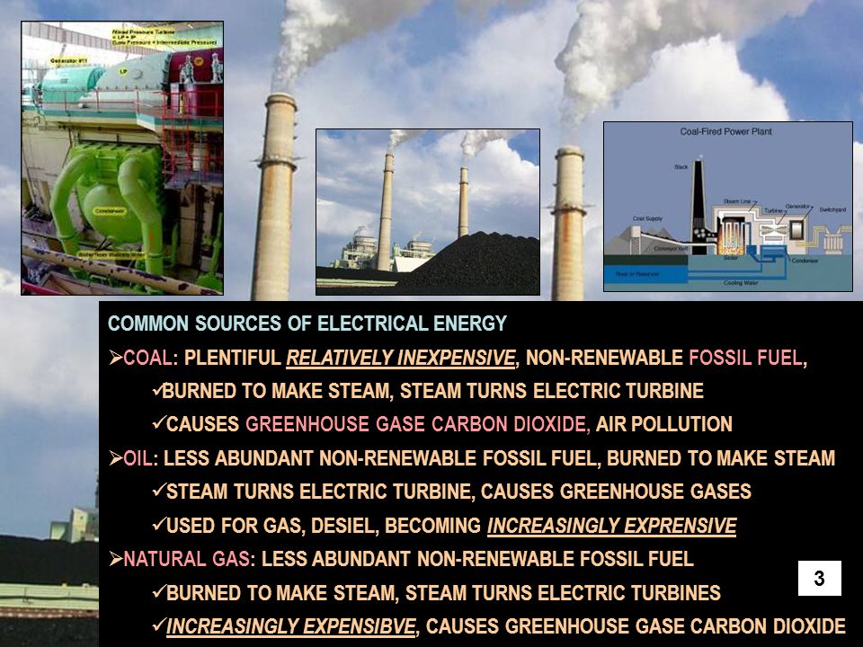 COMMON SOURCES OF ELECTRICAL ENERGY