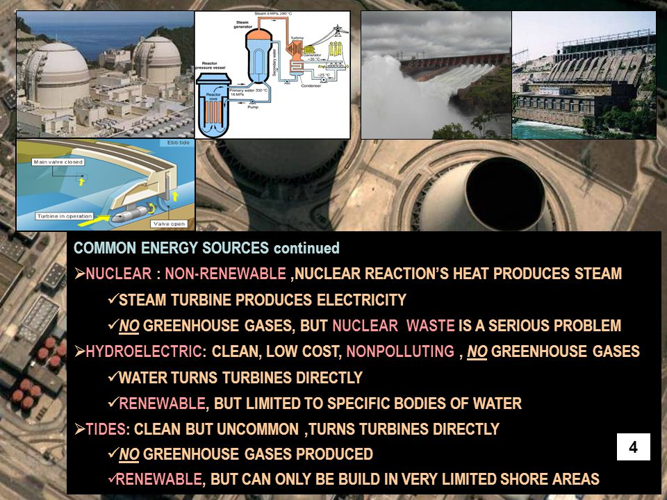 COMMON ENERGY SOURCES continued