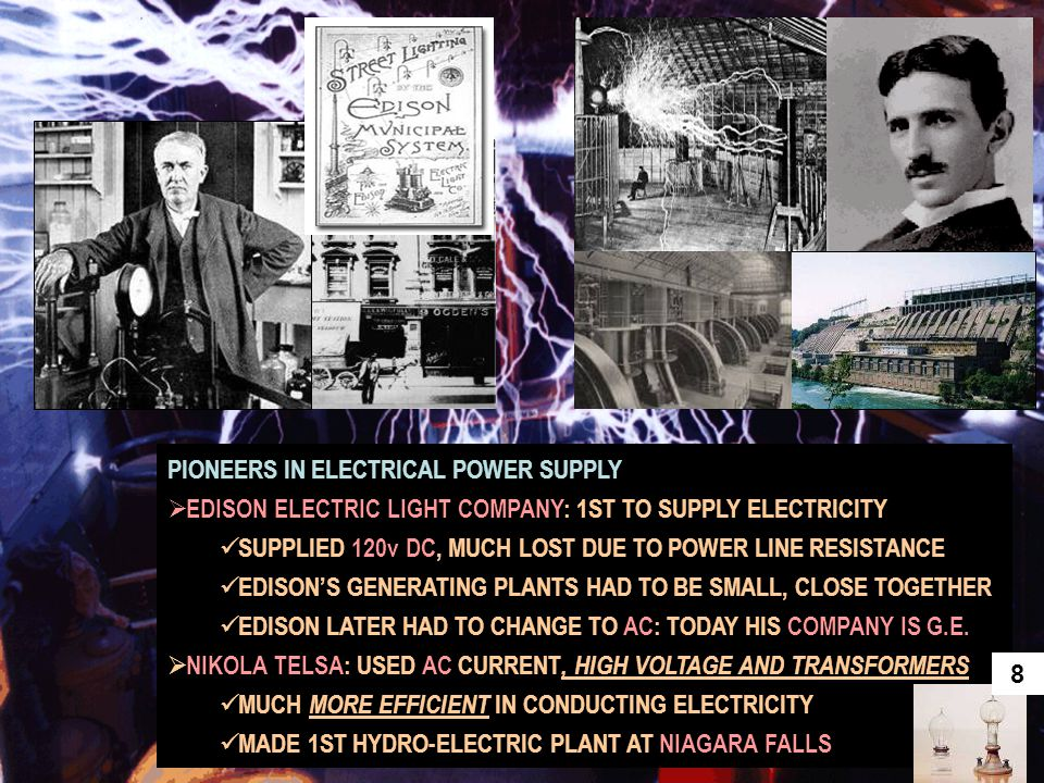 PIONEERS IN ELECTRICAL POWER SUPPLY