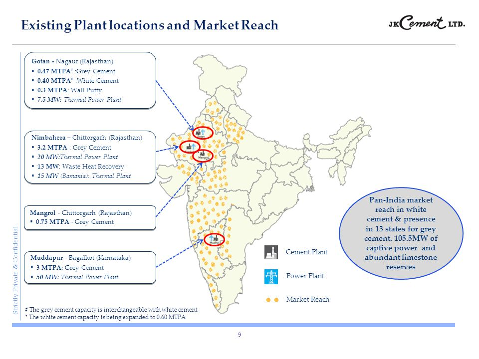 Existing Plant locations and Market Reach