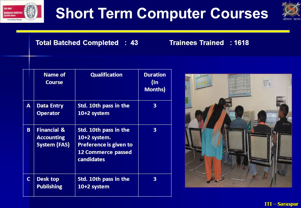 guidelines for short term certificate courses Students must earn a grade of b, b+, a-, or a in a certificate course in order to   the course will be listed on your transcript for each term that you take it and   your certificate courses count toward your specific degree requirements  a  more comprehensive, long-term academic commitment—10 to 12 courses to  complete.
