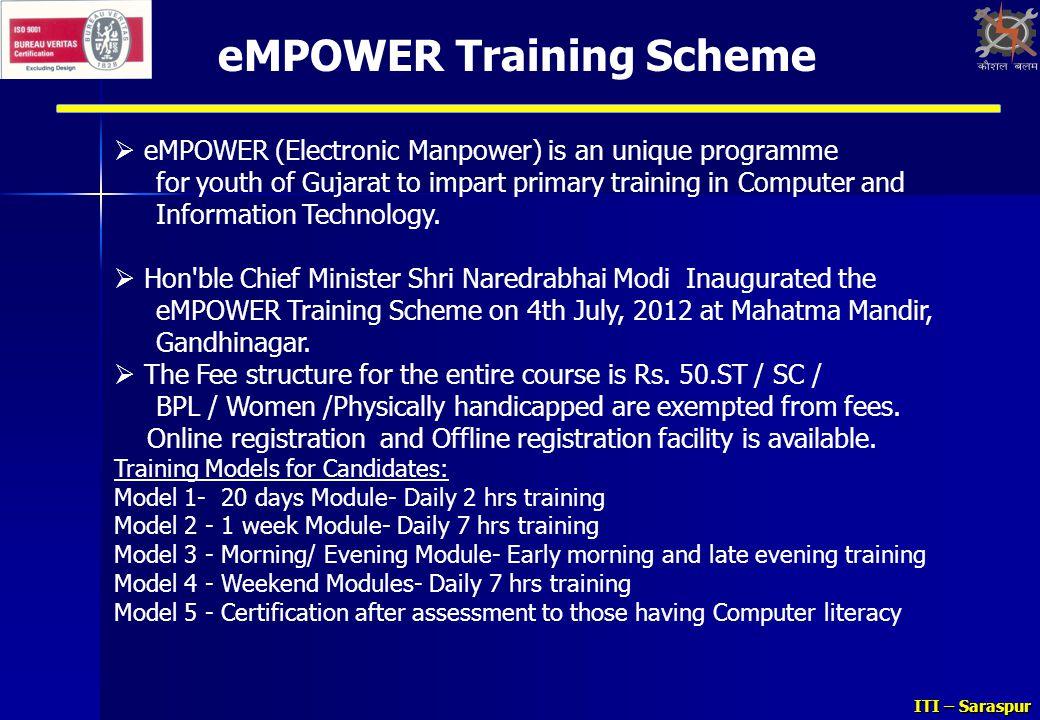 eMPOWER Training Scheme