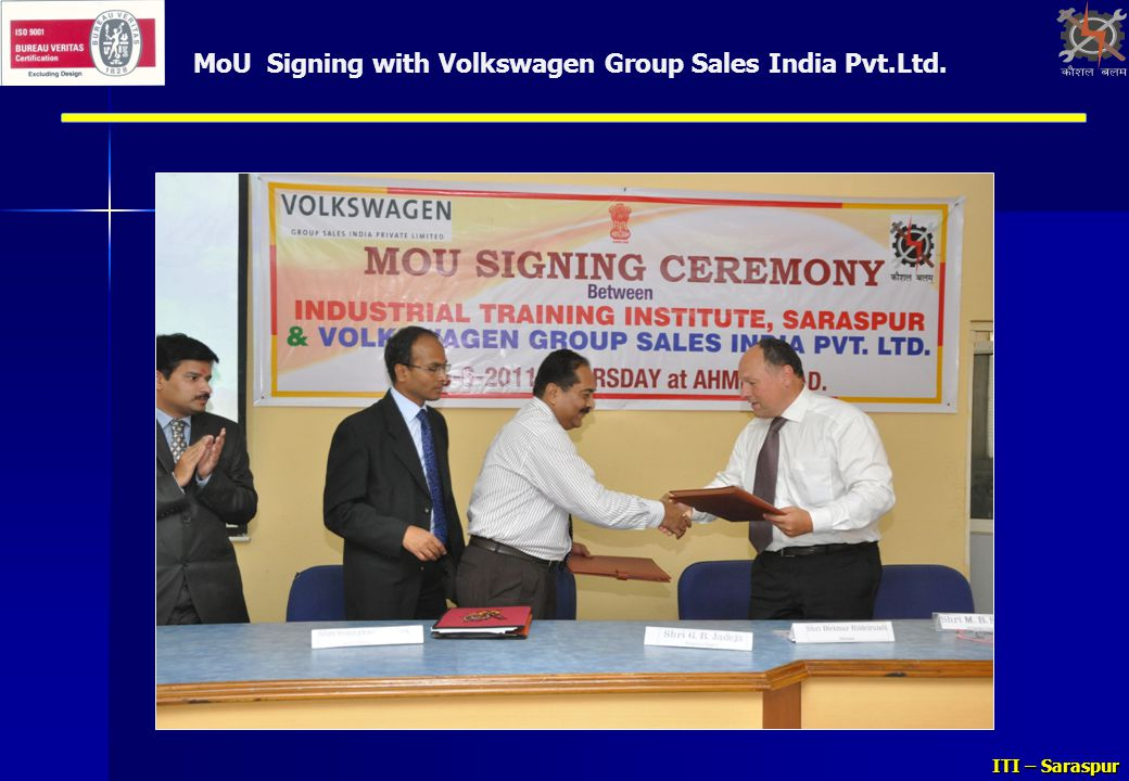 MoU Signing with Volkswagen Group Sales India Pvt.Ltd.