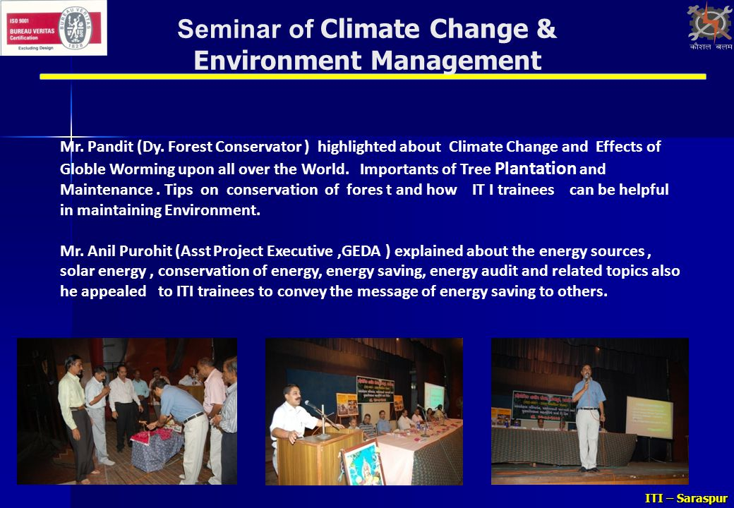 Seminar of Climate Change & Environment Management