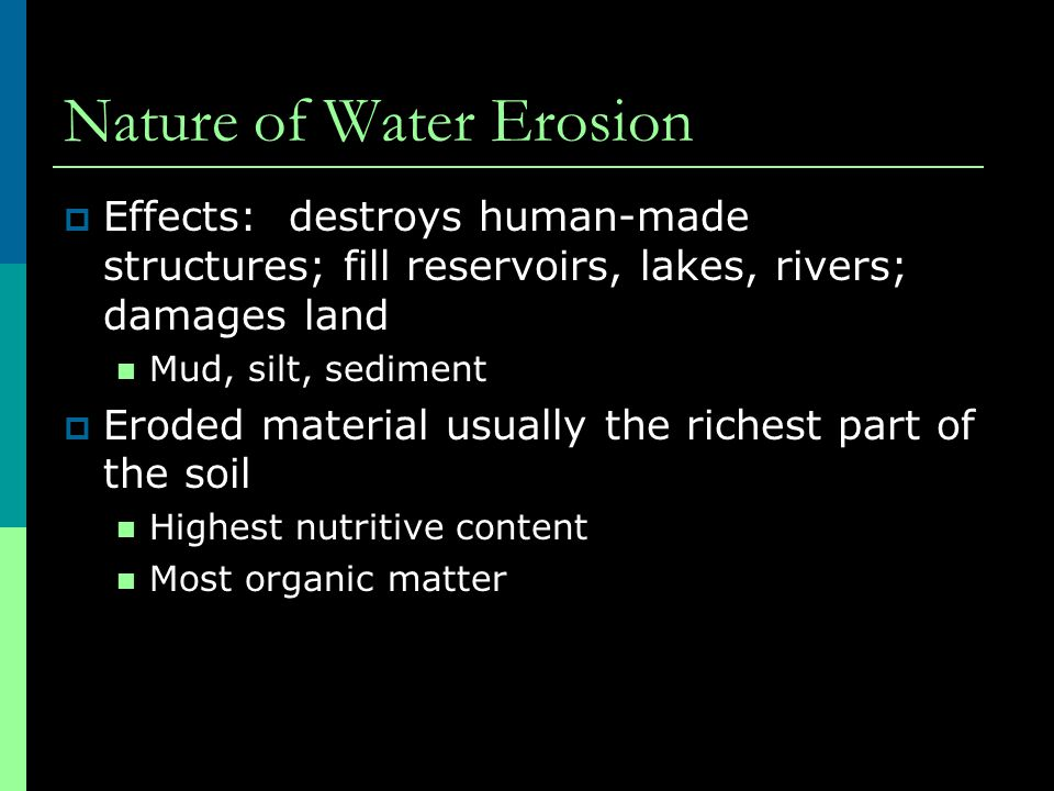 Nature of Water Erosion
