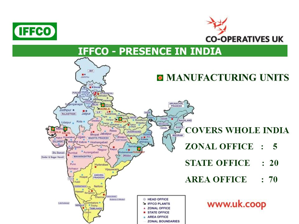 IFFCO - PRESENCE IN INDIA