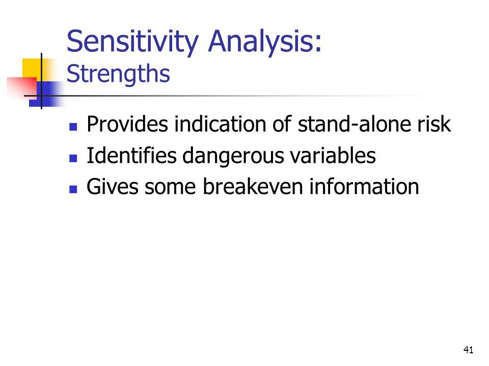 Sensitivity Analysis: Strengths