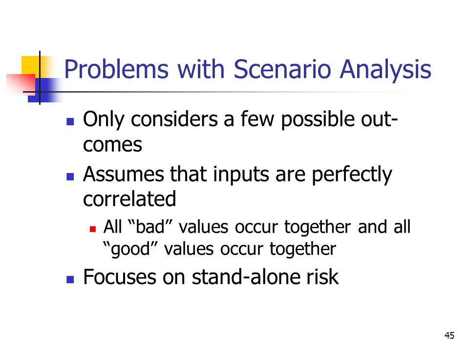 Problems with Scenario Analysis