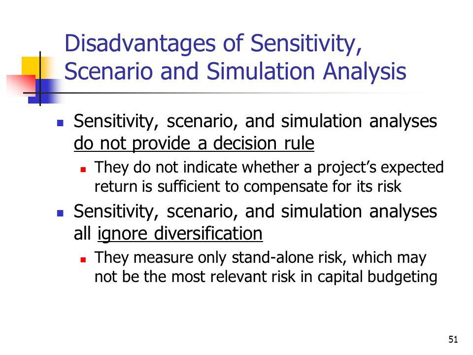 Disadvantages of Sensitivity, Scenario and Simulation Analysis