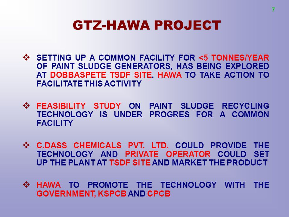 7 GTZ-HAWA PROJECT.