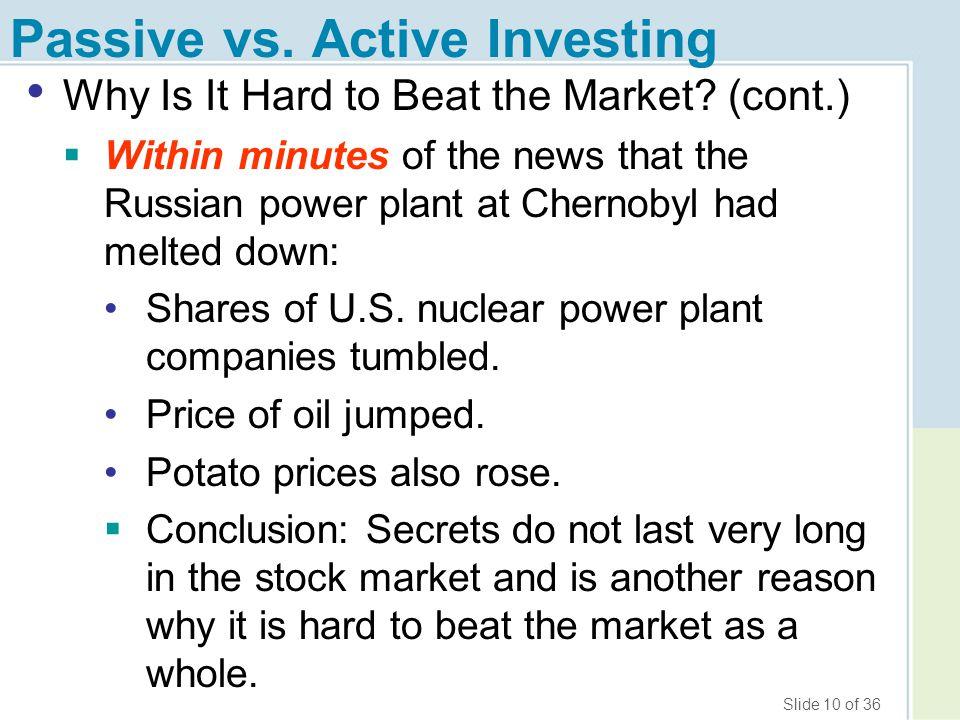Passive vs. Active Investing