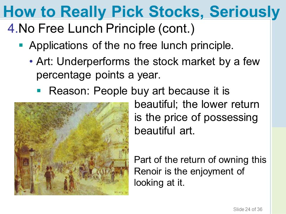 How to Really Pick Stocks, Seriously