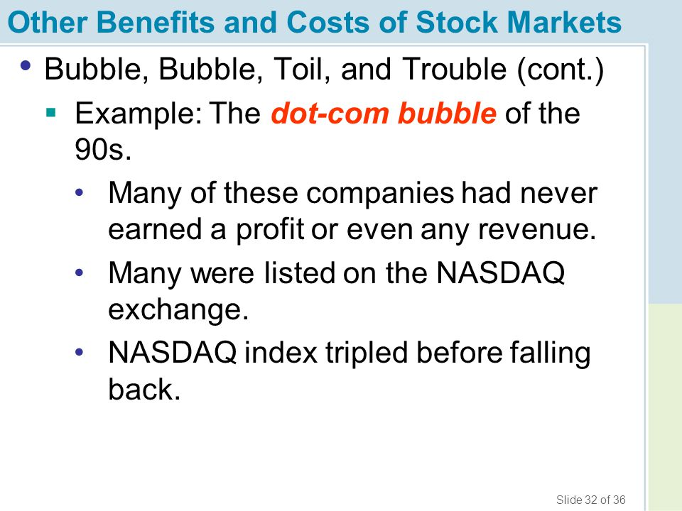 Other Benefits and Costs of Stock Markets