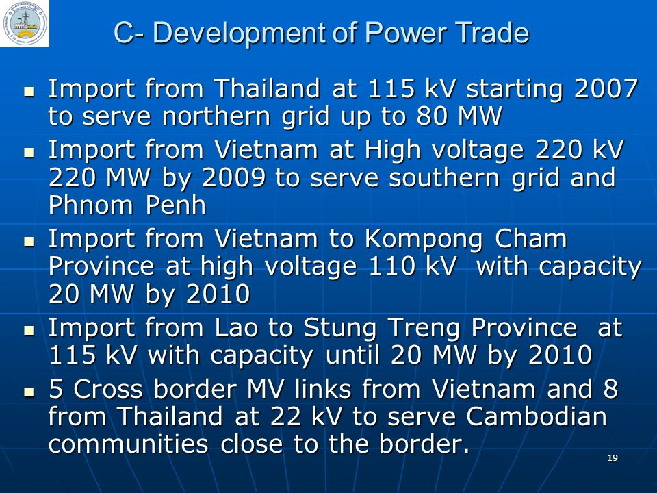 C- Development of Power Trade