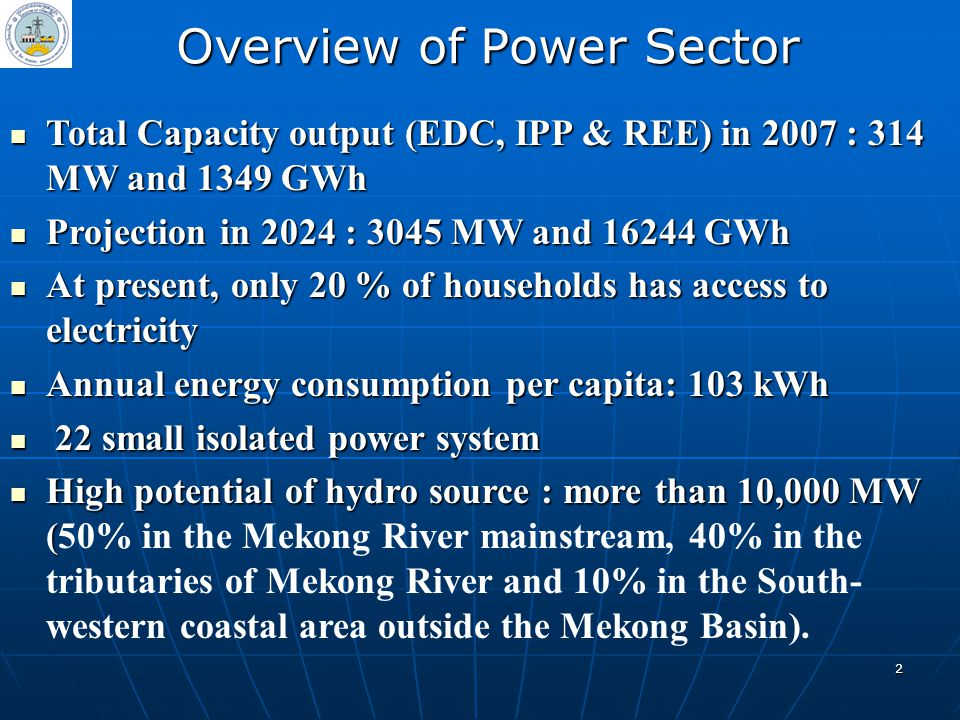 Overview of Power Sector