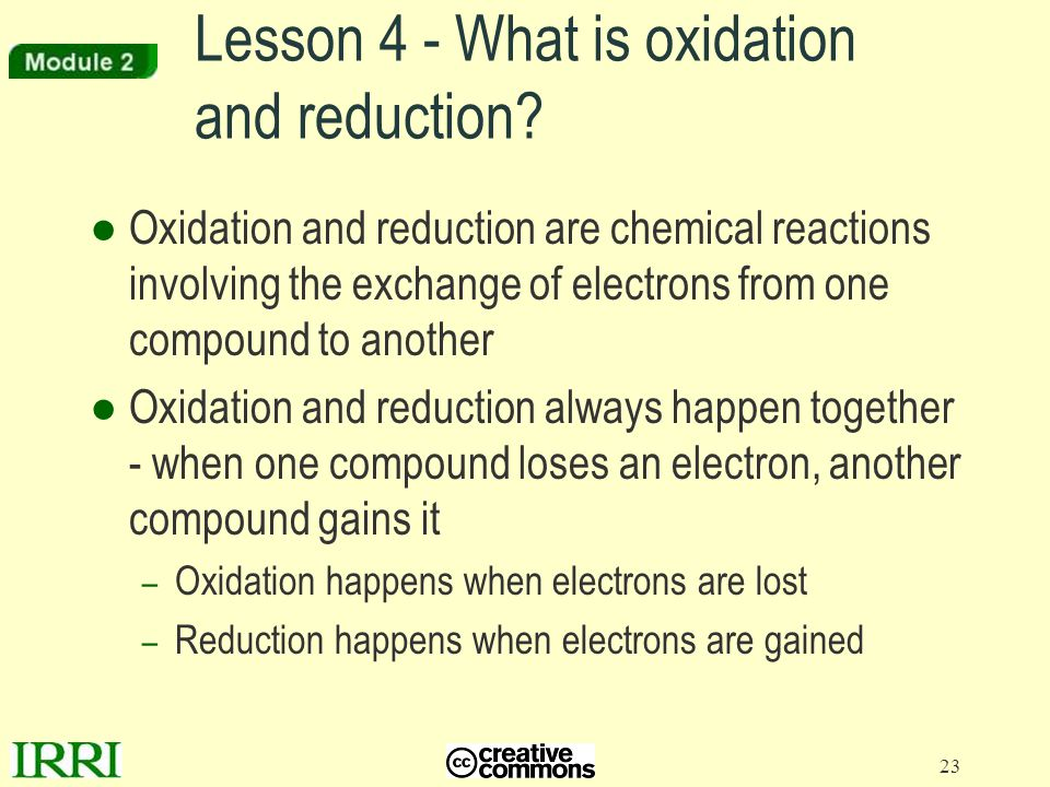 Lesson 4 - What is oxidation and reduction