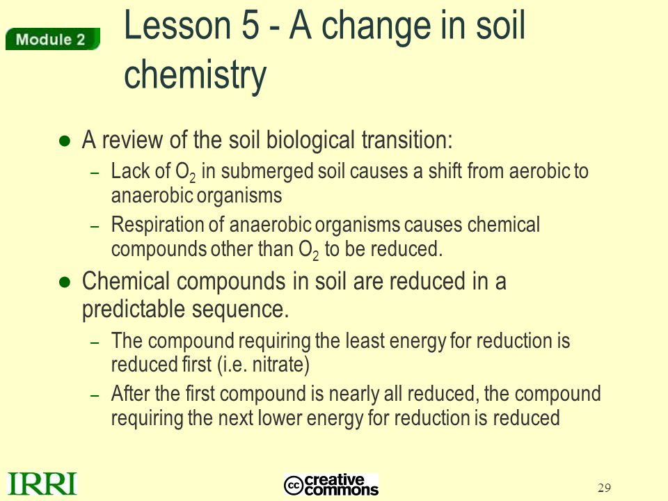 Lesson 5 - A change in soil chemistry