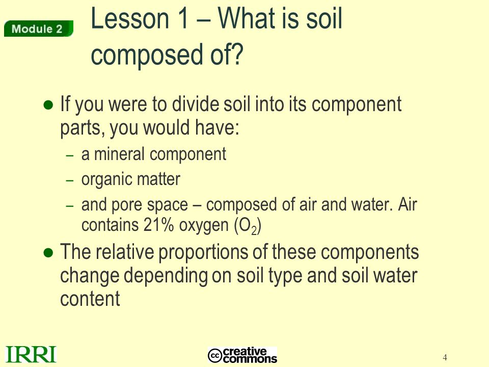 Lesson 1 – What is soil composed of