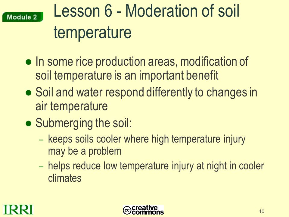 Lesson 6 - Moderation of soil temperature