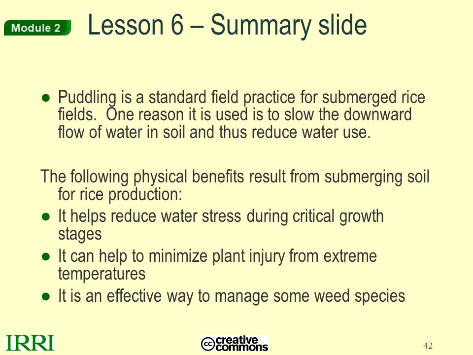 Lesson 6 – Summary slide