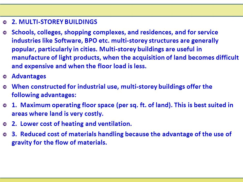 2. MULTI-STOREY BUILDINGS