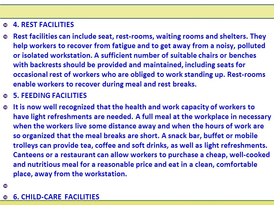 4. REST FACILITIES