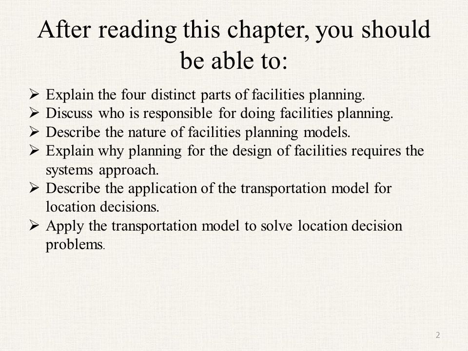 After reading this chapter, you should be able to: