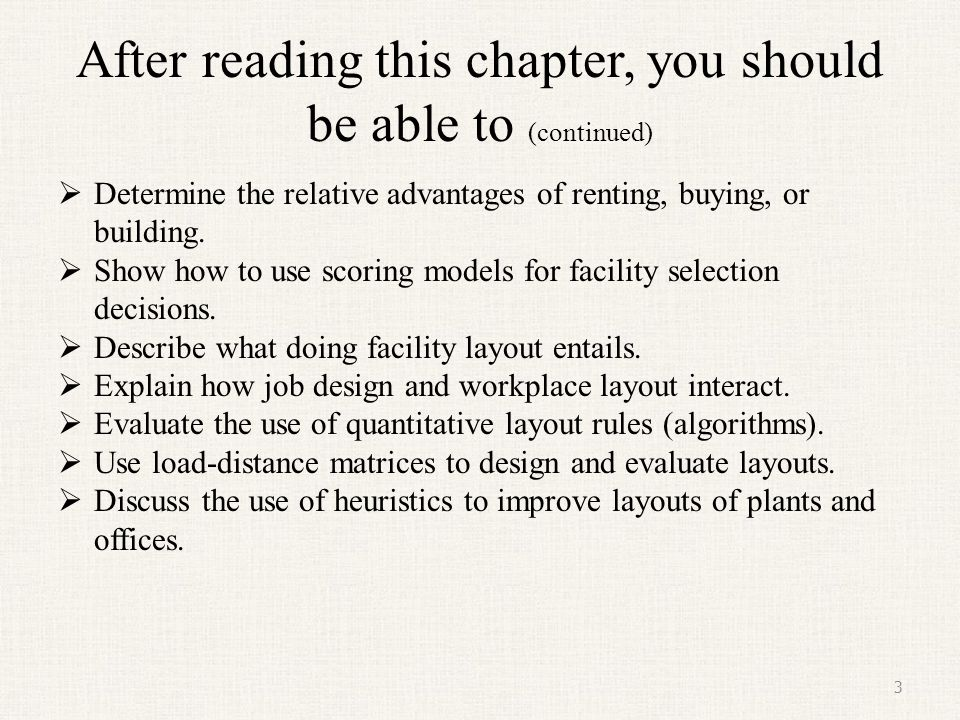 After reading this chapter, you should be able to (continued)