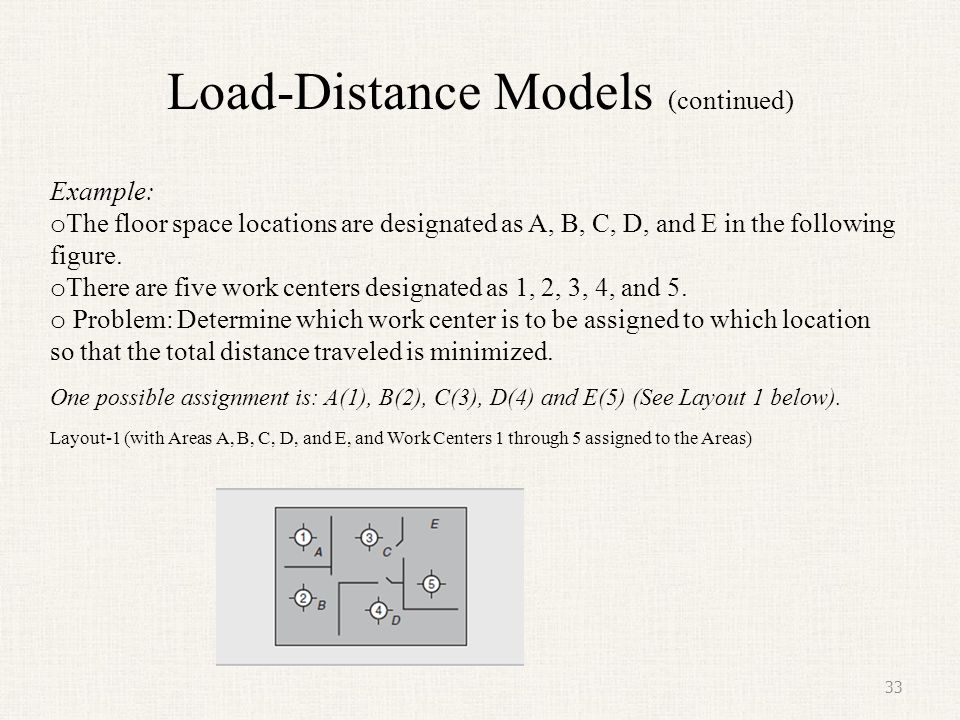 Load-Distance Models (continued)