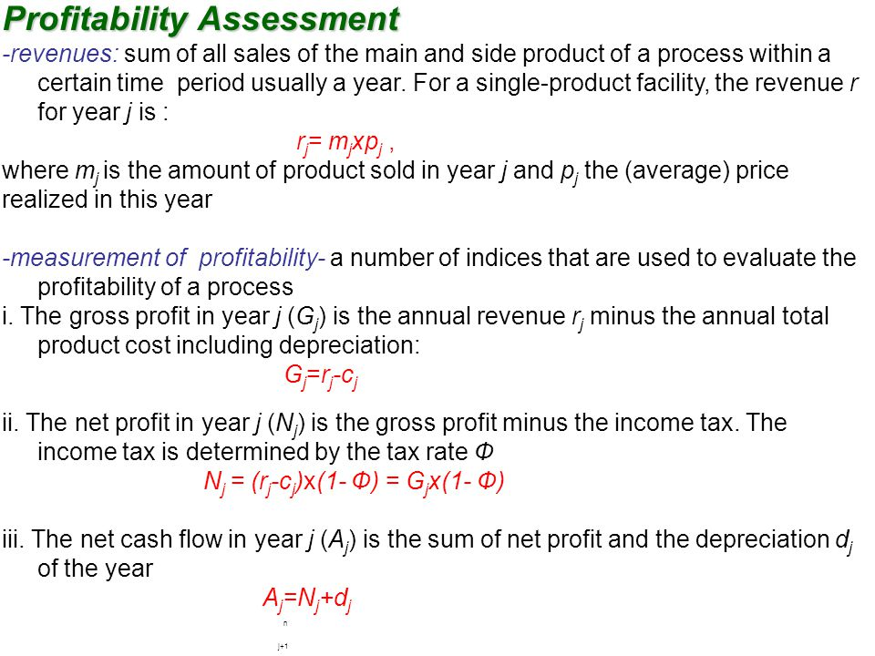 Profitability Assessment