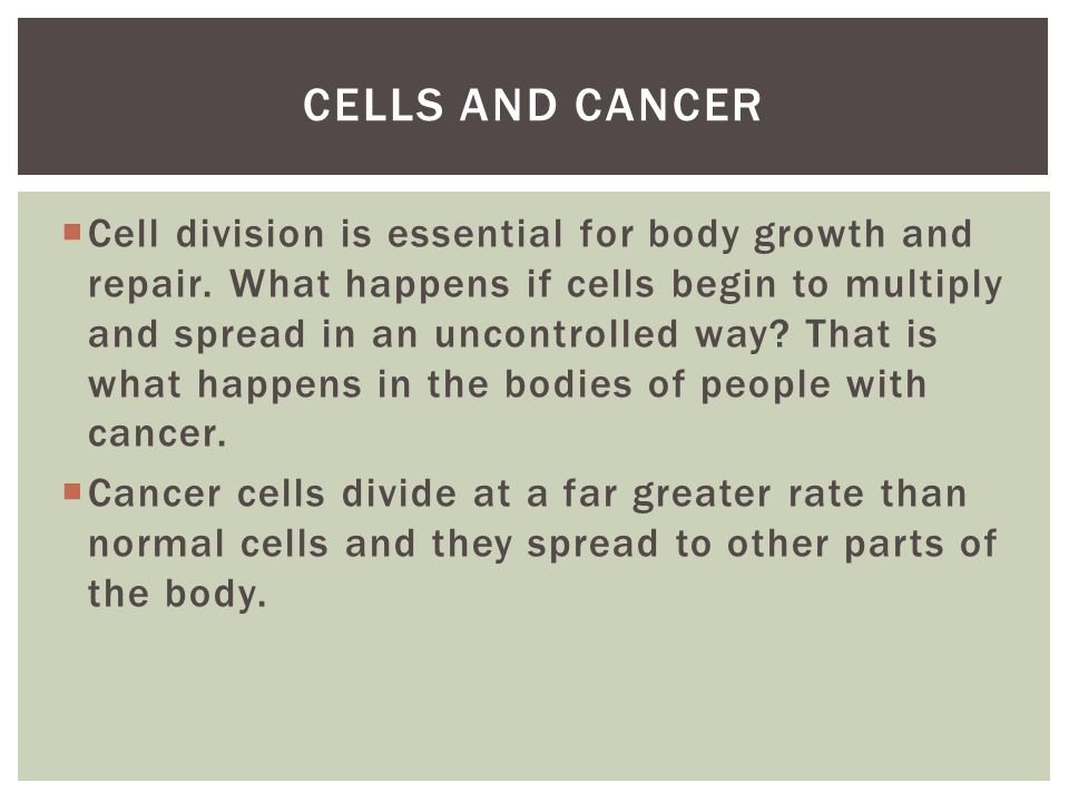 Cells and cancer