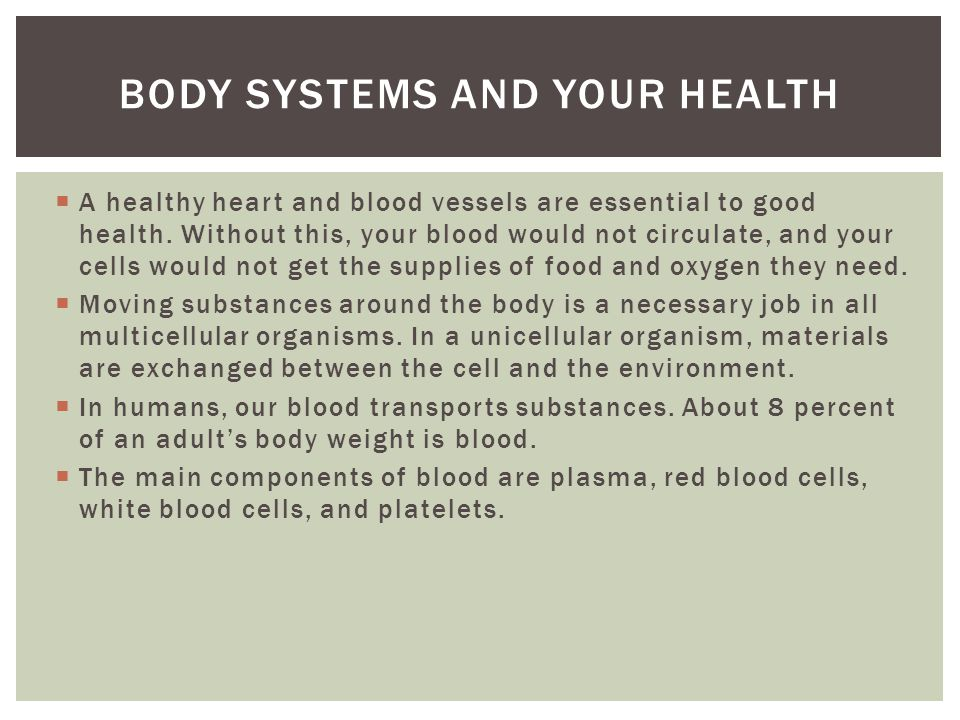 Body systems and your health